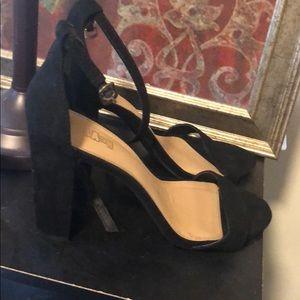 Heels size 10W, black worn